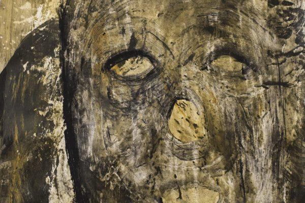 4_Enoch Bergsten_No title_2014_muste ja jänisliima paperille_81 x 58 cm