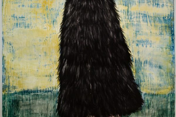 7_Enoch Bergsten_Hermit_2013_akvarelli, muste ja jänisliima paperille_170 x 139 cm