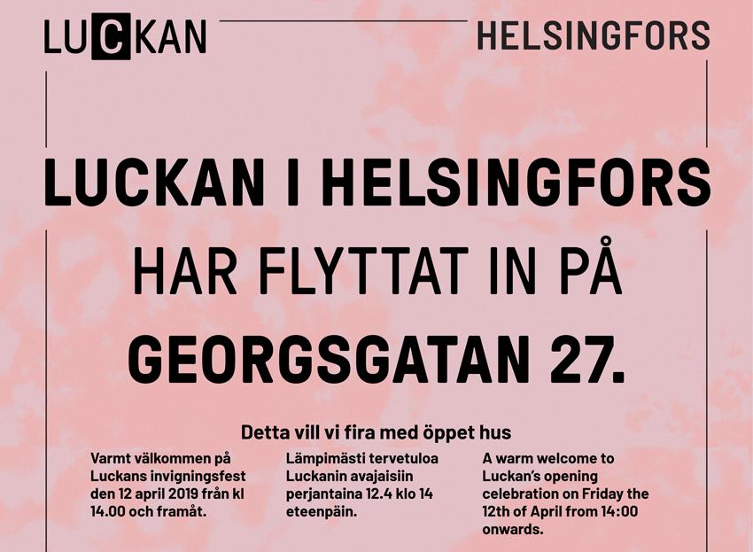 Luckan Helsingfors invigningsfest